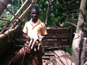 Francis Baah, 17, is a member of Ehiamankyene 4-H in Ghana. He raises goats at home and grows corn and vegetables with his school's club. Photo by Kiera Butler.